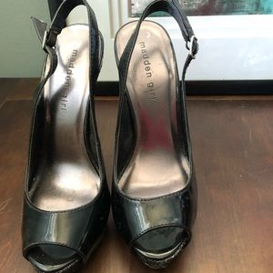 Madden Girl patent leather peep toe  shoes